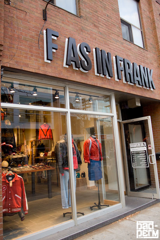 Incroyable F As In Frank Vintage Clothing
