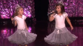 British 5 and 8-year olds, Sophia Grace and Rosie, Rap on Ellen