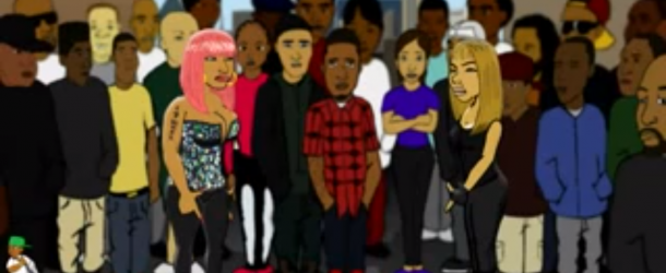 Video – Nicki Minaj vs Lil Kim Rap Battle (Cartoon Parody)