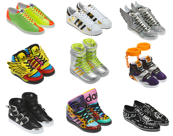 Don't ever assume that you've seen the furthest that Jeremy Scott can go as far as flashy sneakers are concerned. Because, just when you have