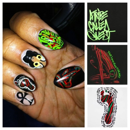 Bad Perm A Tribe Called Quest Nail Art