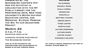 [EVENT] Breaking Silence: Passing the Mic to Our Daughters Project presents FRESH, BOLD, AND SO DEF WOMEN